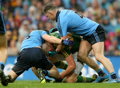 The controversial All-Ireland final incident involving Kerry captain Kieran Donaghy and Dublin's Philly McMahon.
