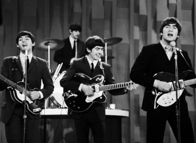 The Beatles on the Ed Sullivan show in 1964.