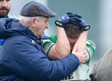 Portlaoise's Paul Cahillane is gutted at full-time.