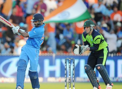 Ireland and India in their Cricket World Cup match earlier this year.