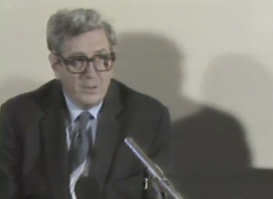 Taoiseach Garret Fitzgerald announcing the 1985 scheme.