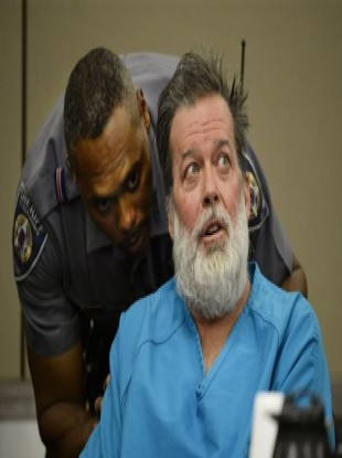 Robert Lewis Dear who stands accused of killing three people in a shooting in Colorado in the US with a police deputy