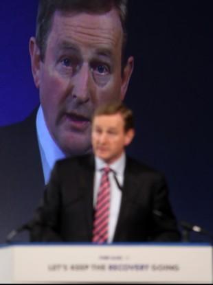 Enda Kenny speaking at the Fine Gael Ard Fheis this weekend