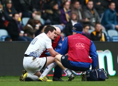 Sexton receives treatment on Saturday.