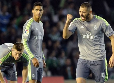 Real Madrid striker Karim Benzema was on target this evening.