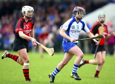 Milford's Maria Watson on the attack in today's semi-final against Oulart-the-Ballagh.