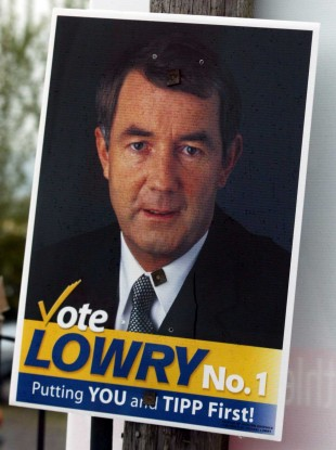 A Michael Lowry election poster
