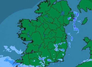 The latest rainfall radar