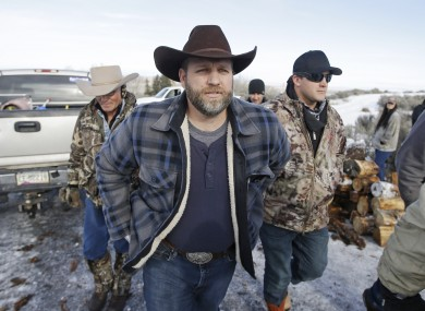 Ammon Bundy, who has been arrested.