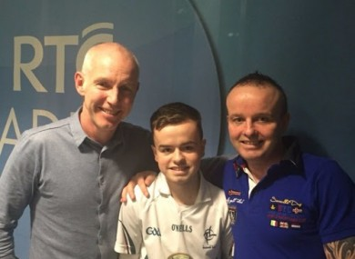 Dean O'Connor and his father Brian with Ray D'Arcy
