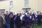 Garda stations were jammed with students registering to vote yesterday