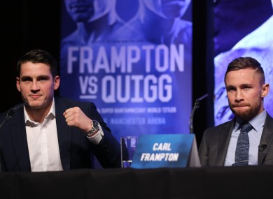 Shane McGuigan has thrown almost as many barbs as his boxer Frampton.