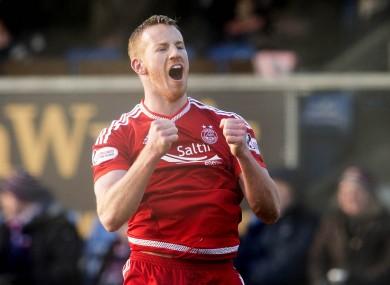 Rooney has scored 19 goals for Aberdeen this season.