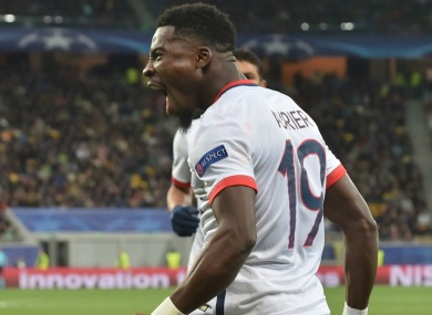 Paris Saint-Germain full-back Serge Aurier.