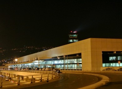 Taxis and minibuses connect Beirut's international airport (pictured) with the Charles Helou bus station.
