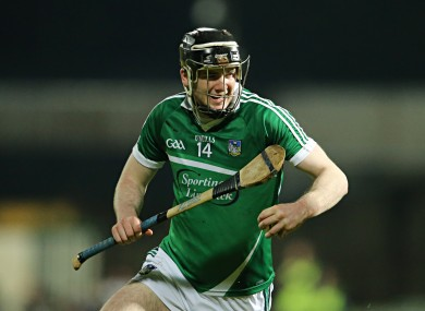 Declan Hannon is named at the edge of the square for the Limerick hurlers.