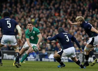 Jonathan Sexton in action against Scotland.