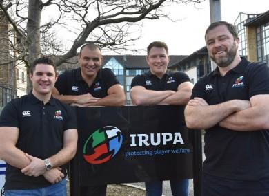 Simon Keogh, Omar Hassanein, Michael Swift and Marcus Horan of the IRUPA.