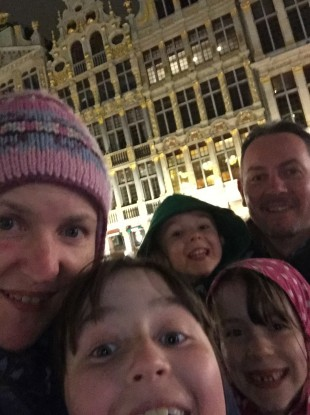 Niamh Jordan and her family in Brussels.
