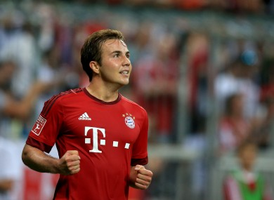 Gotze has featured just eight times in the league this term.