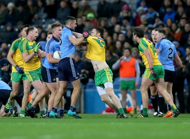 McCarthy, centre, and Murphy both saw red in Croke Park.