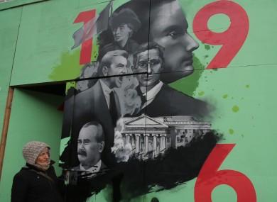 A mural in central Dublin.