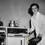Cookery demonstration, c1950s<span class=