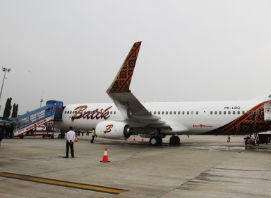 File photo of an intact Batik Air jetliner at Soekarno-Hatta International Airport in Jakarta