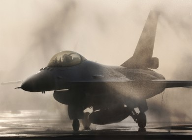 A file picture F-16 jet fighter pictured in Taiwan