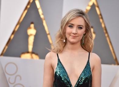Brooklyn actress Saoirse Ronan arrives at the Oscars