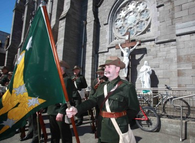 The Labour Party's Annual James Connolly Commemoration took place outside the Capuchin Friary on Church Street today