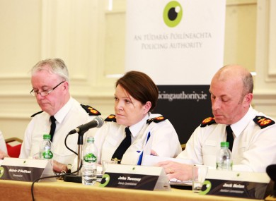 Garda Commissioner Noirin O Sullivan speaking at the Policing Authority in April.
