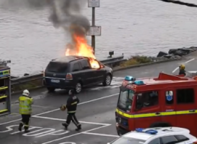 A Opel Zafira which caught fire in Cork last year.
