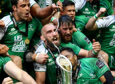 John Muldoon with the trophy.