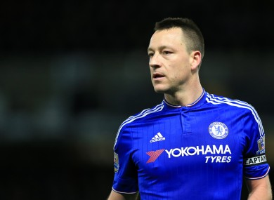 Chelsea's John Terry is out of contract in the summer.