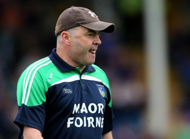 Limerick minor hurling coach Anthony Daly.