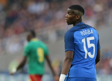 Pogba is currently on international duty.