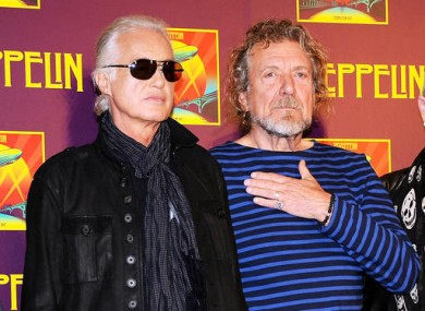 Jimmy Page and Robert Plant (2012)