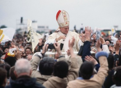 Pope John Paul II visiting Ireland in 1979