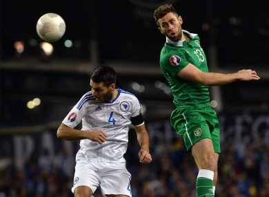 Daryl Murphy started both legs of the play-off against Bosnia.