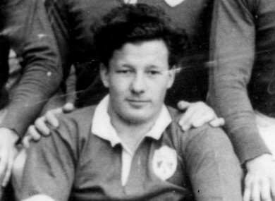 Jack Kyle ahead of Ireland's game with England in 1948.