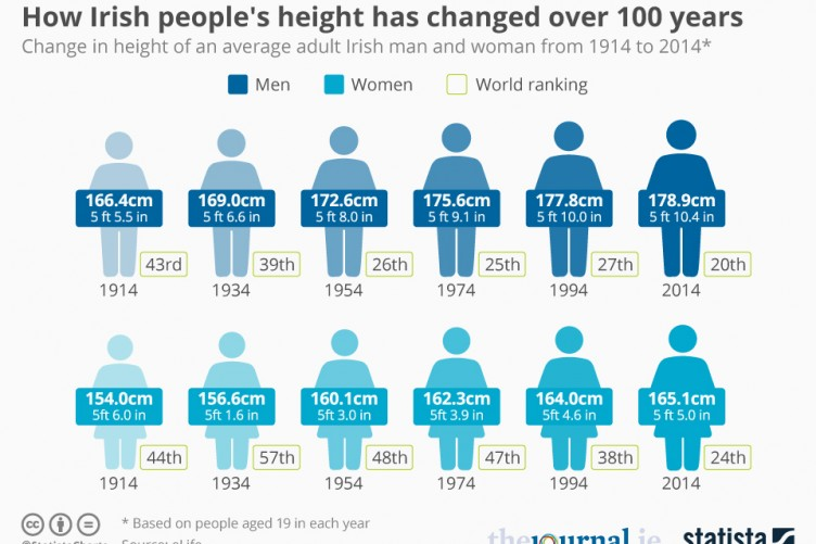 The average height of an american male