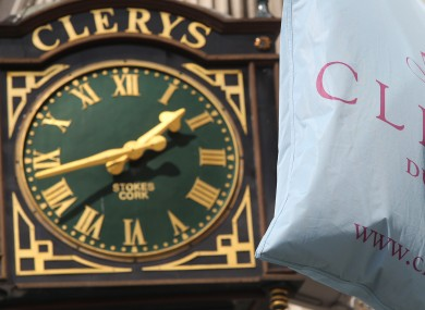 The clock at Clerys Department Store