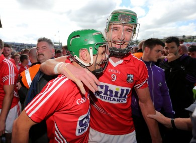 Aidan Walsh and Alan Cadogan pictured after Cork's 2014 Munster final win.