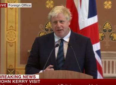 Britain's Foreign Secretary Boris Johnson
