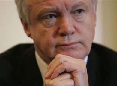 David Davis was appointed to the new ministry by Prime Minister Theresa May this week.