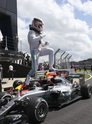 Hamilton: champ turning up the heat with four wins in the last five races.