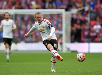 Rooney will be used as a striker, according to his new boss.