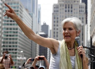 Jill Stein campaigns in Philadelphia this week.