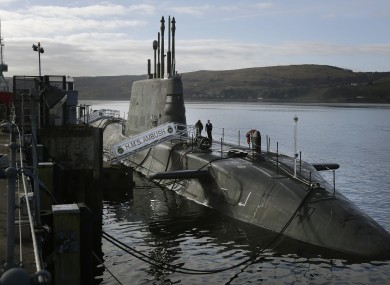 File photo of the sub, HMS Ambush.